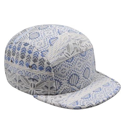 a53f4e3a9b541 Hatphile Pattern Multi Color Stripe 5 Panel Hat