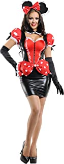 Pretty Pin-up Mouse Costume, Red Dress Mouse Costume
