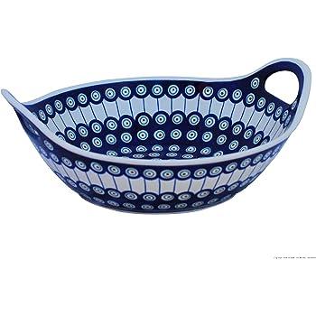 Deko Schüssel Ø 33,20 cm im Dekor 42 Original Bunzlauer Keramik Obstschale