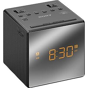Sony ICFC1PJ.CEK  Clock Radio with Time Projector Refurbished Black//Silver