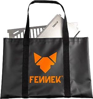 FENNEK 2.0 und Zubehör   Mobiler und steckbarer Holzkohle-Grill aus Edelstahl für Camping, Trekking, Vanlife, Garten und Outdoor Grill-Spaß Tasche