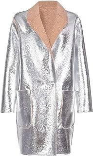 Pinko Luxury Fashion Womens 1B14317720IC7 Silver Coat | Fall Winter 19