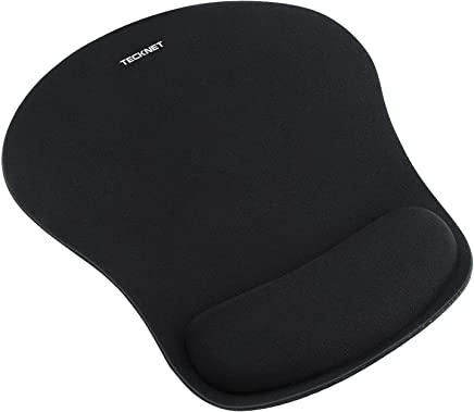 TeckNet Mouse Mat with Gel Rest -Non-slip Rubber base- Special-Textured Water-Resistant Surface