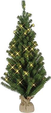 Star 600-41 Sapin de Noël dans Sac de Jute 50 LEDs Blanc Chaud 90 x 50 cm