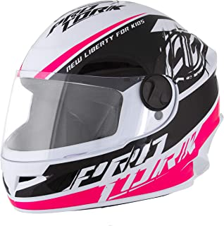 Pro Tork Capacete Infantil New Liberty For Kids 54 Branco/Rosa