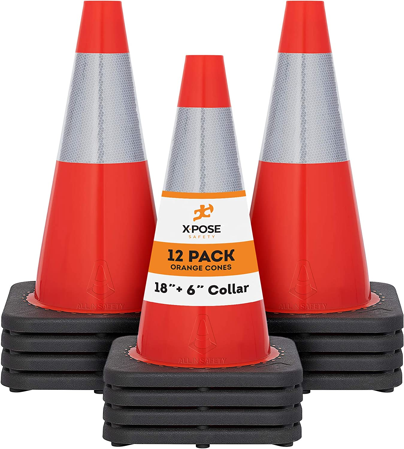 Xpose Safety 18 Inch OFFicial Orange Traffic with Fashionable Cones Multip 6