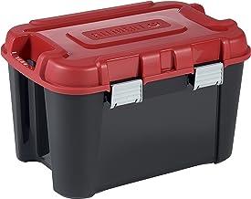 Allibert 229195 Totem transportkoffer, zwart/rood, kunststof, 59,6 x 39,5 x 37 cm, 60 l