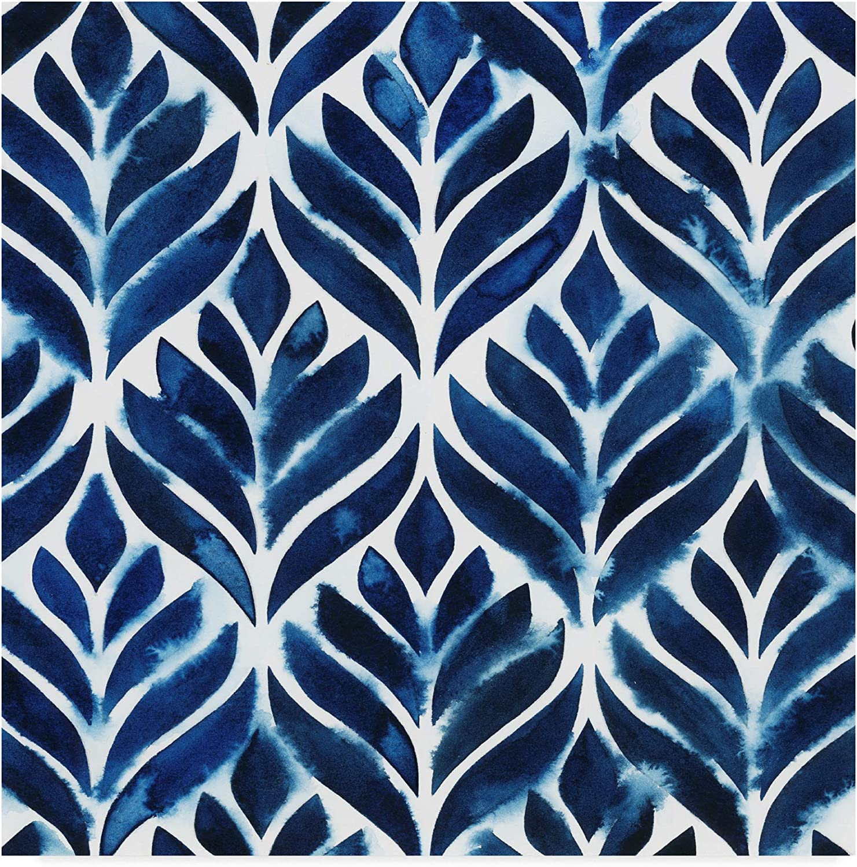 Trademark Fine Art Cobalt Watercolor Tiles IV by Grace Popp, 14x14