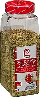 Lawry's Garlic Pepper Coarse Grind With Parsley, Culinary Spice, 22 oz