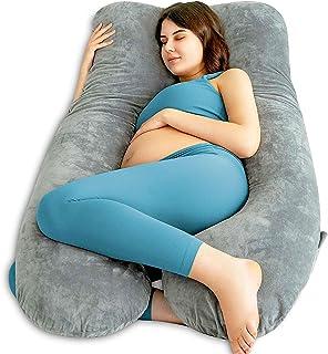 Queen Rose, u-formad graviditetskudde, kudde för att sova på sidan, placeringskudde med avtagbart tvättbart överdrag