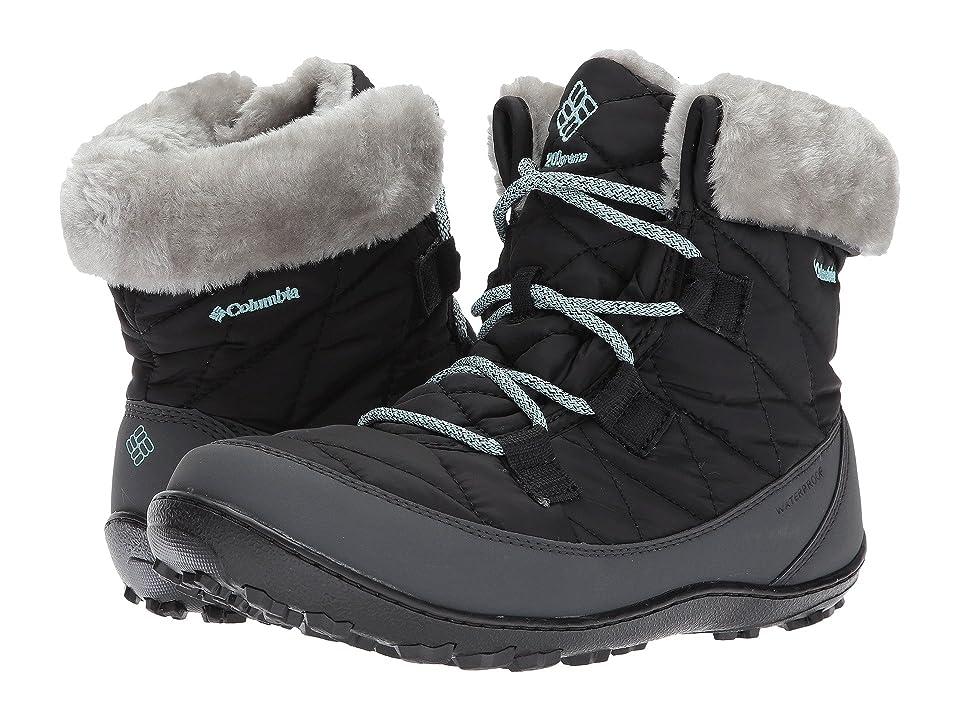 Columbia Kids Minx Shorty Omni-Heat Waterproof (Little Kid/Big Kid) (Black/Spray) Girls Shoes