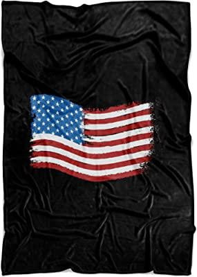 Living You Co. American Flag Fleece Blanket Small 40