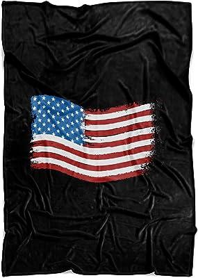 Living You Co. American Flag Fleece Blanket Small 40