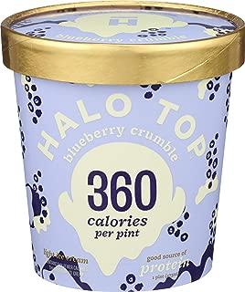 Halo Top Creamery, Ice Cream Blueberry Crumble, 16 Fl Oz