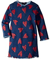 Stella McCartney Kids - Darcey Heart Raw Edge Dress (Toddler/Little Kids/Big Kids)