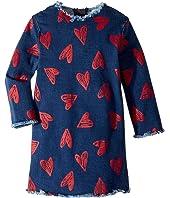 Stella McCartney Kids - Darcey Heart Raw Edge Dress (Toddler/Little Kids/Big Kids)