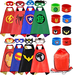 RioRand Superhero Capes Set with 8 Wristbands and 1 Carrying Bag, for Boys & Girls, Costumes, Birthday Party, Gifts. Dress...