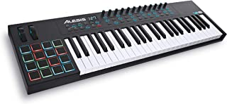 Alesis VI49 | 49-Key USB MIDI Keyboard Controller with 16 Pads, 16 Assignable Knobs, 48 Buttons and 5-Pin MIDI Out Plus Production Software Included (Renewed)