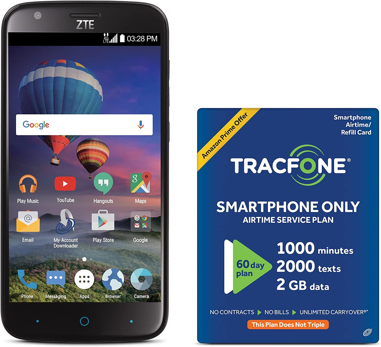 TracFone ZTE Zmax CHAMP Max 50% OFF 4G LTE with Prepaid Ex Amazon Smartphone 40% OFF Cheap Sale