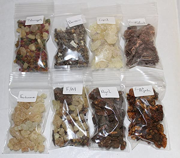 Resin Incense Variety Sampler Set 8 Fragrances 8 X 1 2 Oz Bags By Rainbowrecords239