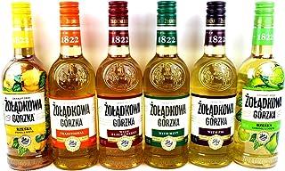 Sechser Paket Zoladkowa Gorzka Vodka 6x0,5 1 Trditionel, 1 Black Shery, 1 Mint, 1 Limette Minze, 1 Quitten Minze1 Feige