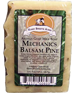 Premium Mechanic's Balsam Pine Goat Milk Soap - CLEANS YOUR GREASY HANDS AND KEEPS THEM FROM DRYING OUT! GUARANTEED!!! (1-pack)