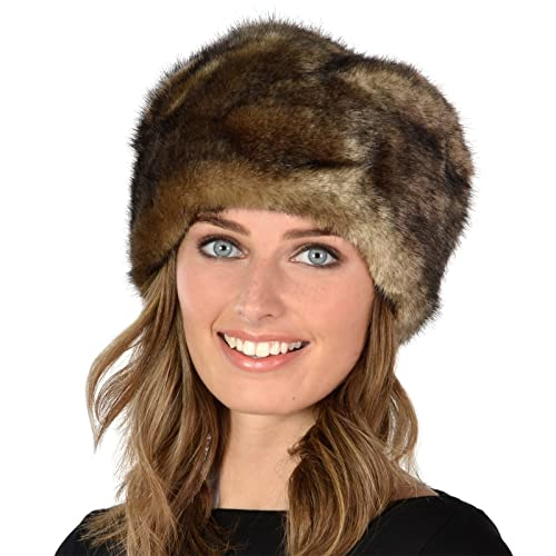 Womens Stylish Faux Fur Russian Cossack Hat Winter Fashion Warm Super Soft  Fit 181de52746b