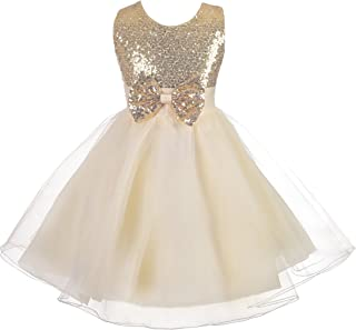 Lito Angels Girls' Flower Girl Dresses Wedding Pageant Occasion Dress Sequined Tulle