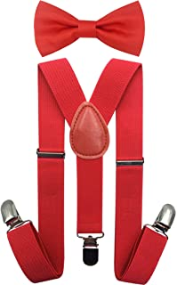 Consumable Depot Kids, Toddlers Suspender and Bow Tie Set, Adjustable Set and Colors for Boys and Girls