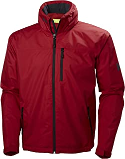 Helly Hansen Men's Crew Lightweight Waterproof Windproof Breathable Sailing Rain Coat Jacket with Stowable Hood