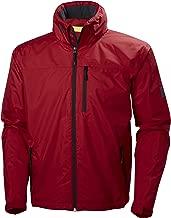 Helly Hansen Men's Crew Lightweight Waterproof Windproof Breathable Sailing Rain Coat Jacket with Stowable Hood