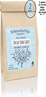 Organic Decaf Earl Grey Tea, Fair Trade Certified, Tagless teabags (36 count)