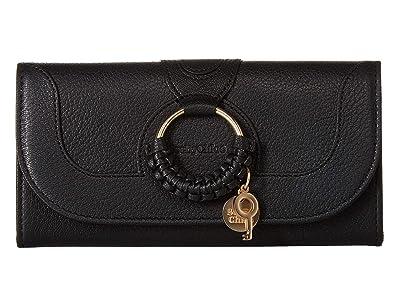See by Chloe Hana Continental Wallet (Black) Wallet Handbags