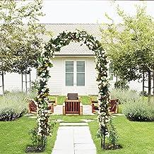 Arco para el jardín de flores para el aire libre, diseño de enrejado de acero duradero, para plantas trepadoras, decoración de bodas, 17,78 cm de alto x 10,16 cm de ancho