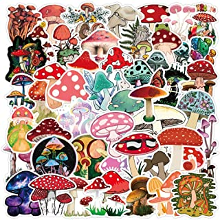 100pcs Cute Mushroom Stickers for Water Bottle,Vinyl Waterproof Stickers Decals for Laptop Scrapbooking Journaling Hydroflask Bicycle Car Phone Case,Mushroom Gifts for Adults Teens Girls Boys
