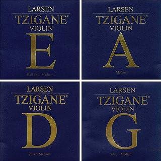 Larsen Tzigane 4/4 Violin String Set - Medium Gauge with Ball-end E