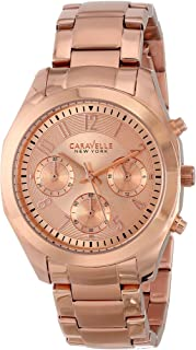 Caravelle New York Women's 44L115 Analog Display Japanese Quartz Rose Gold Watch
