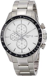 ساعة تيسوت V8 كرونوغراف مينا فضي للرجال T106.427.11.031.00