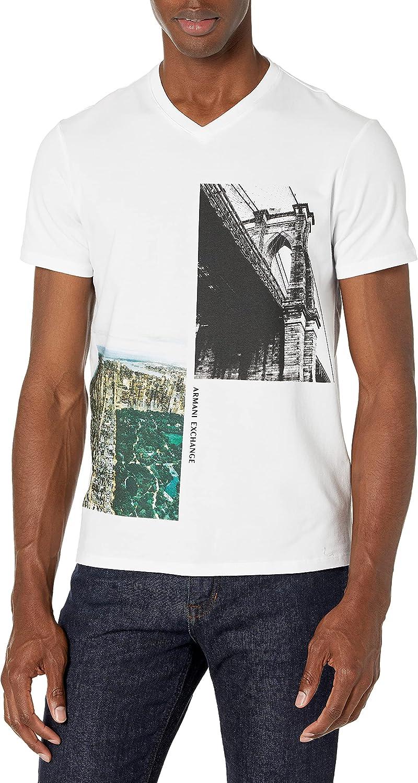 AX Armani Exchange Men's New York Icons V-Neck T-Shirt