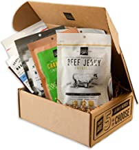 People's Choice Beef Jerky - Jerky Box - Health Nut - Sugar-Free, Carb-Free, Gluten-Free, High Protein, Keto-Friendly - Meat Snack Sampler Gift Basket - 6 Items