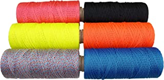 Braided Polyester Mason Line - #18 Bonded Twine - DIY String - SGT KNOTS - Dacron Polyester Twine - Craft Cord, Kite Cord, Bead Line, General Purpose Rope (1/2 lb x 450 ft, Black)