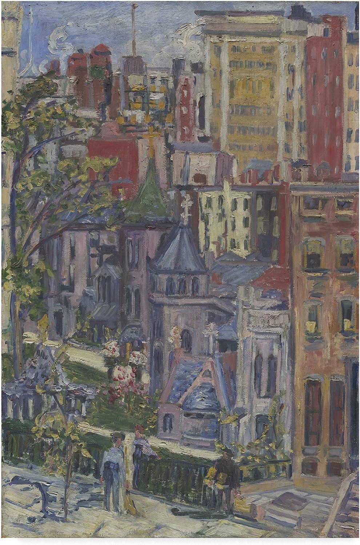 Trademark Fine Art Church Around The Corner by Dgoldthea Adelheid Dreier, 12x19, Multicolor