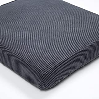 Argstar 1 Seater Couch Chair Cushion Cover Spendex Loveseat Sofa Seat Slipcover Furniture Protector Gray