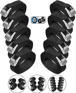 BB Sport Sjorband spanband bevestigingsband met klemgesp - zwart, beschikbaar in verschillende lengtes en hoeveelheden - d...