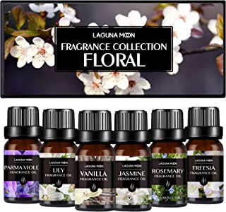 Fragrance Oils, Floral Aromatherapy Oils Gift Set 6 x 10ML Fragrance Oil for Diffuser, Massage, Candles, Soap & Bath Bombs...
