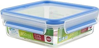 Emsa Frischhaltedose, Kunststoff, Transparent/Blau, 850 ml