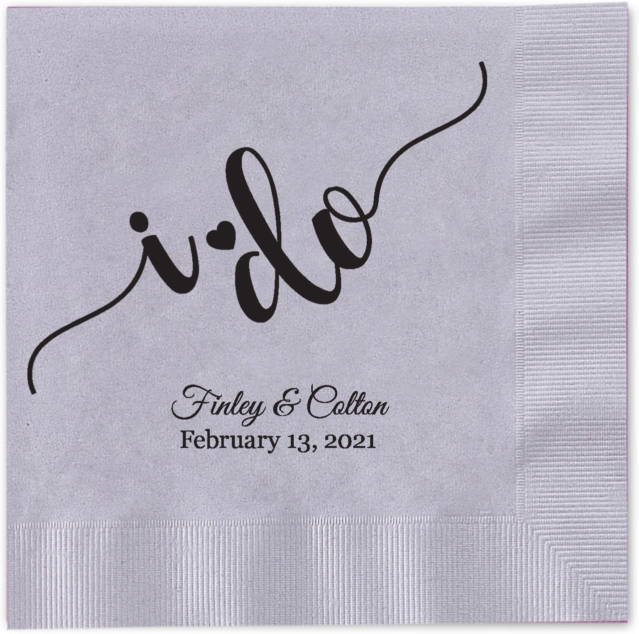 I do Calligraphy Personalized Beverage Napkins Cocktail Max 88% OFF 100 Ranking integrated 1st place - Cu