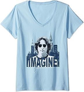 Femme John Lennon - Sky T-Shirt avec Col en V