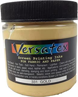 Versatex Screenprinting Ink Metallic Gold for Paper and Fabric 4oz