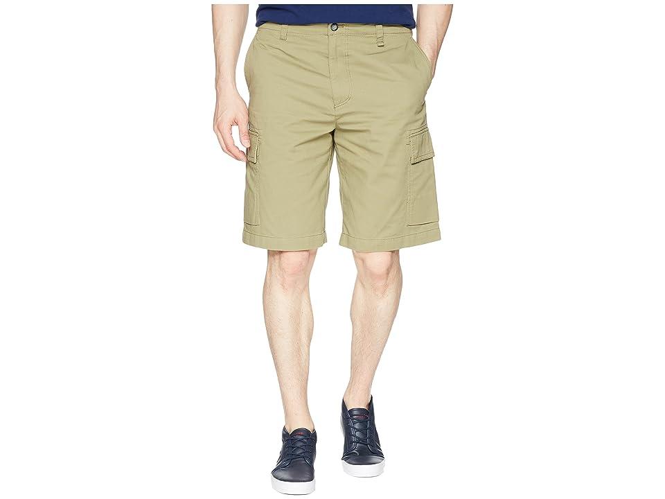 Lacoste Broken Twill Cargo Bermuda Shorts (Aloe) Men